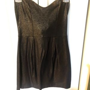 French Connection Strapless Black Mini Dress